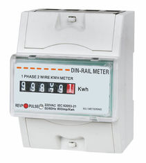 Intelligent Small DIN Rail KWH meter , digital electricity meter 1 phase 2 wire